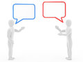 Two Persons Talk Royalty Free Stock Images - 30064379