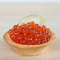 Tartlets With Red Caviar And Lime Stock Photography - 30065042