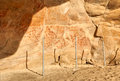 Wall In The Elands Bay Cave With Rock Art Stock Image - 30077021