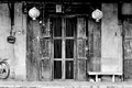 Old Style Chinese House In Black And White Royalty Free Stock Photo - 30090515