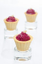 Three Tartlets With Beetroot Mousse And Goat Cheese Stock Images - 30096424