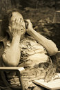 Lonely Old Woman Royalty Free Stock Photos - 3010118