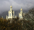 Twin Steeples Peeping Out Royalty Free Stock Photo - 3019025