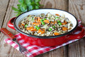 Fried Wild Rice With Vegetables Stock Photography - 30101392