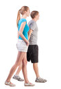 Back View Of Going Young Couple Royalty Free Stock Images - 30108759
