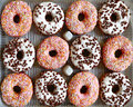 Tray Of Ring Donuts Stock Photography - 30109272