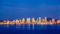 San Diego Downtown Skyline At Night Stock Photography - 30110342