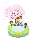 Cafe Of The Cherry Blossom-1 Stock Photos - 30118463