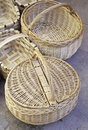 Handmade Wicker Baskets Royalty Free Stock Photography - 30131897