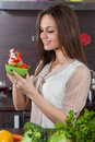 Woman Eats Salad Royalty Free Stock Images - 30151029