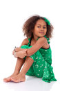 Cute Young African Asian Girl Stock Image - 30155611