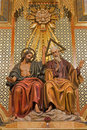 Madrid - Statue Of Holy Trinity From Side Altar Of Almudena Cathedral On Royalty Free Stock Photo - 30181755