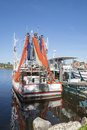 Prawn Boat With Nets Drying. Royalty Free Stock Photo - 30185235
