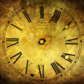 Old Clock Face With Attractive Grunge Textures Stock Photography - 30189342