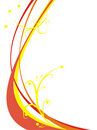 Red And Yellow Curve Strips Royalty Free Stock Photos - 3022238