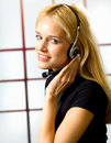 Businesswoman With Headset Stock Image - 3024091