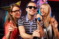 Karaoke Party Royalty Free Stock Images - 30212769
