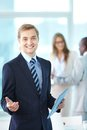 Boss With Touchpad Royalty Free Stock Image - 30214206