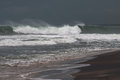Stormy Sea Waters Before Storm Royalty Free Stock Photos - 30237298