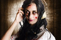 Hard Rock Zombie Listening To Death Metal Music Stock Image - 30241751