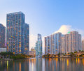 Miami Florida, Brickell And Downtown Financial Buildings Stock Images - 30242314
