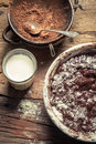 Preparations For Making Homemade Chocolate Stock Photos - 30252243
