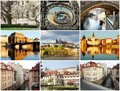Collage Beautiful Prague Royalty Free Stock Images - 30252259