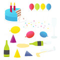 Party Things Vector Set Royalty Free Stock Images - 30256149