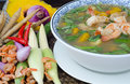 Spicy Mixed Vegetable Soup (Kaeng Liang) Royalty Free Stock Images - 30256409