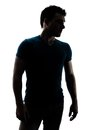 Fashionable Male Figure In Silhouette Stock Image - 30260131