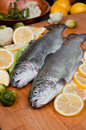 Trout In Lemons Royalty Free Stock Photography - 30263437