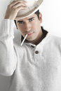 Sexy Guy In Hat Royalty Free Stock Images - 30266049