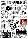 Doodle Music Heavy Metal, Rock Royalty Free Stock Photo - 30270545