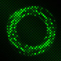 Mosaic With Green Plasma Circle Effect Royalty Free Stock Photography - 30271107