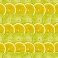 Abstract Background With Citrus-fruits Slices Of Lemon And Lime Stock Image - 30271511