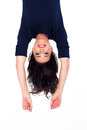 Woman Upside Down Royalty Free Stock Image - 30274126