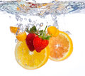 Fruit Falling Into Water Royalty Free Stock Photos - 30277638
