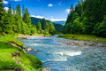 Mountain River Stock Images - 30280444
