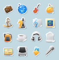 Sticker Icons For Entertainment Royalty Free Stock Image - 30290966