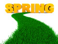 Road To Spring Royalty Free Stock Photos - 30292448