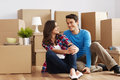 Couple Moving In House Stock Photos - 30295683