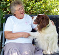 Lady And Dog Stock Image - 3032001