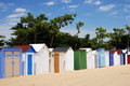 Coloured Beach Huts I Stock Image - 3039071
