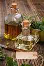 Olive Oil With Label Stock Photography - 30300212