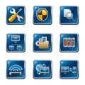 Computer Network Icon Set Royalty Free Stock Image - 30300766