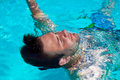 Swimming Man Royalty Free Stock Image - 30309026