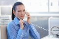 Confident Businesswoman On Landline Call Royalty Free Stock Photo - 30317195