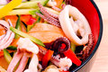 Salad From Seafood Royalty Free Stock Photos - 30317388