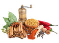 Different Spices And Herbs  On White Royalty Free Stock Images - 30329409