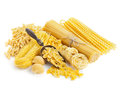 Assortment Of Uncooked Pasta  On White Royalty Free Stock Photo - 30329435
